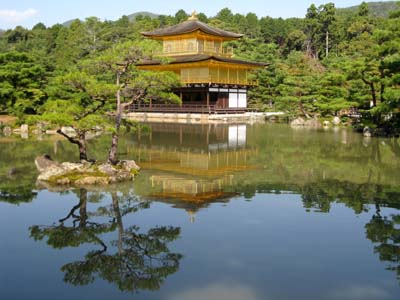 Japanese temple lake