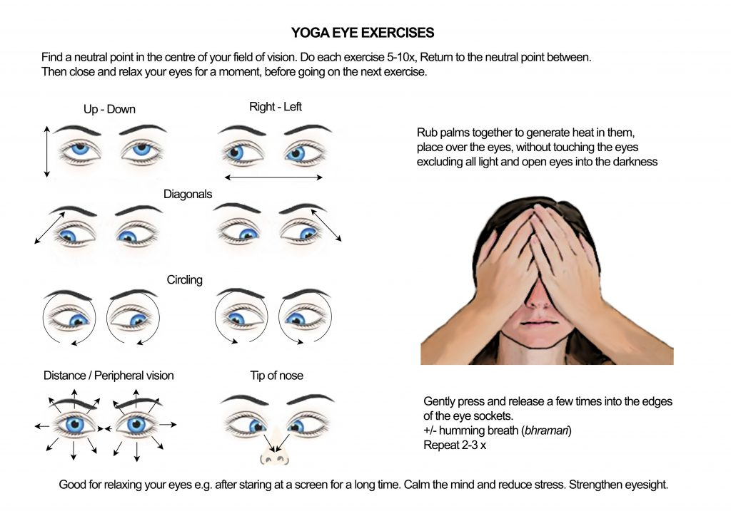 Eye exercises to ease fatigue, reduce stress and improve ...